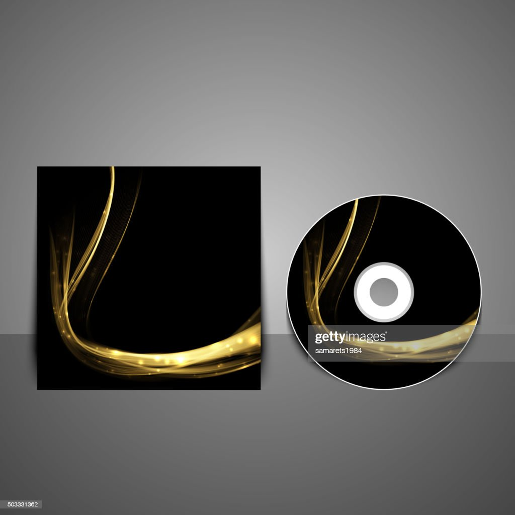 Cd cover design template. Abstract technology background.