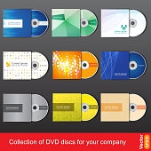 Cd or dvd design template for company presentation