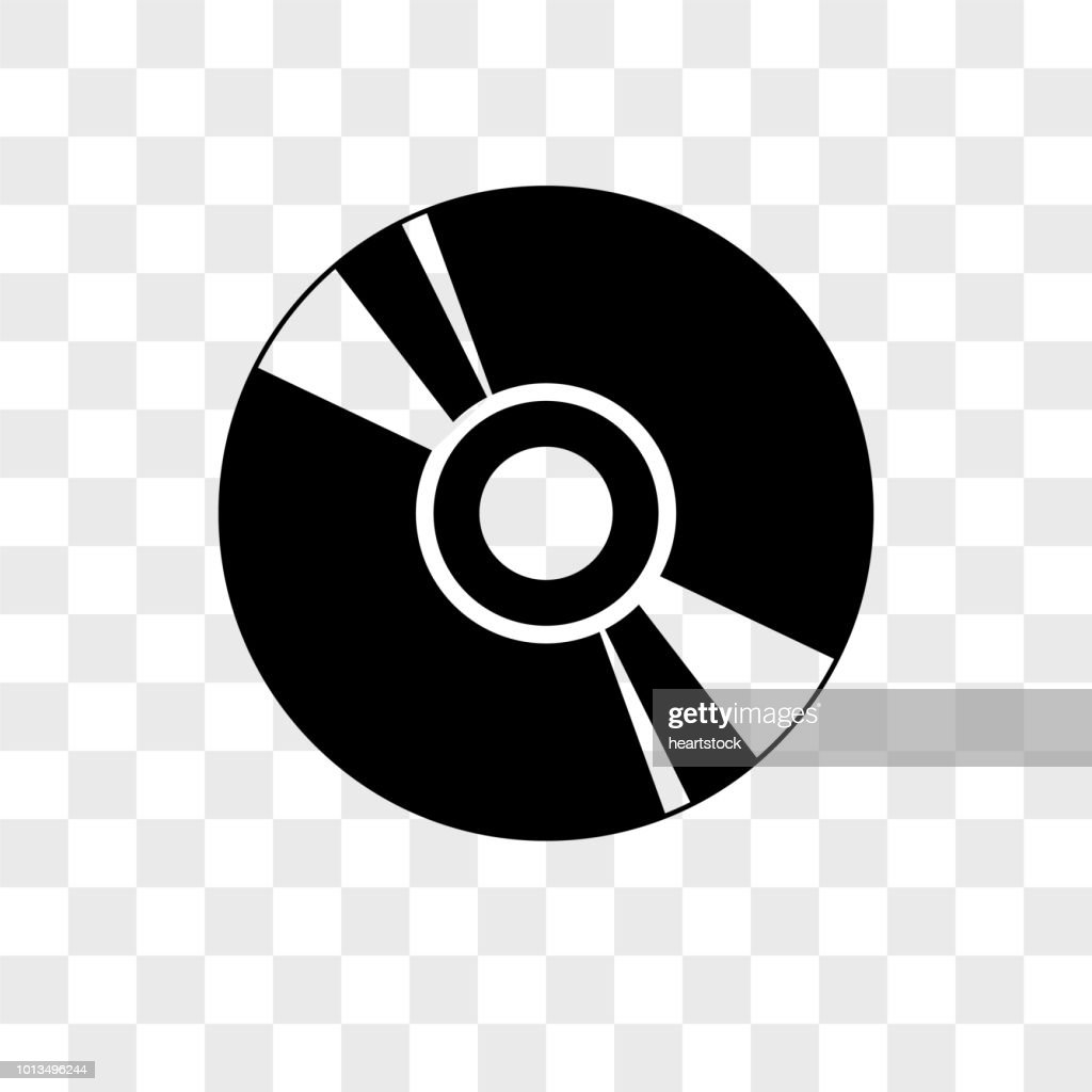 Cd vector icon on transparent background, Cd icon