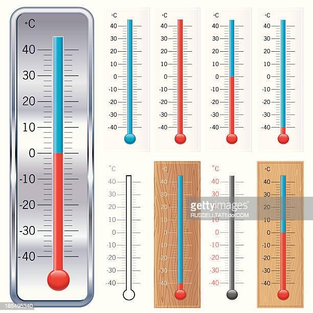 ℃温度ゲージ - 熱映像点のイラスト素材/クリップアート素材/マンガ素材/アイコン素材