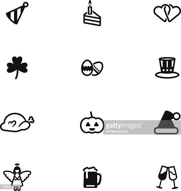 ilustraciones, imágenes clip art, dibujos animados e iconos de stock de celebre su día grupo de iconos - roscadepascua