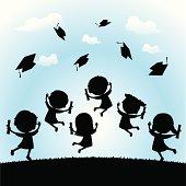 Celebrate graduation silhouette