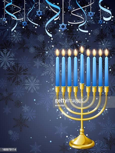 celebrate hanukkah background - hanukkah stock illustrations, clip art, cartoons, & icons