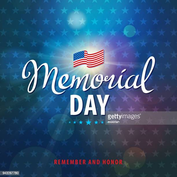 celebrate memorial day - military stock illustrations