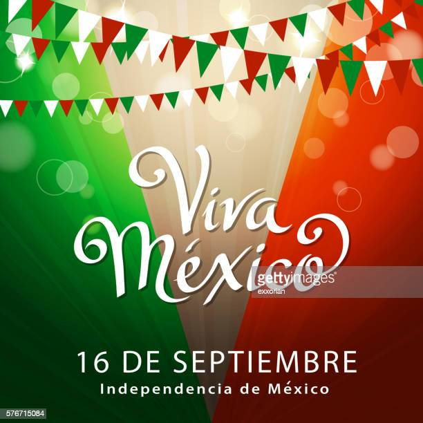 celebrate mexican independence - independence stock illustrations