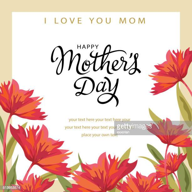 stockillustraties, clipart, cartoons en iconen met celebrate mother's day - moederdag