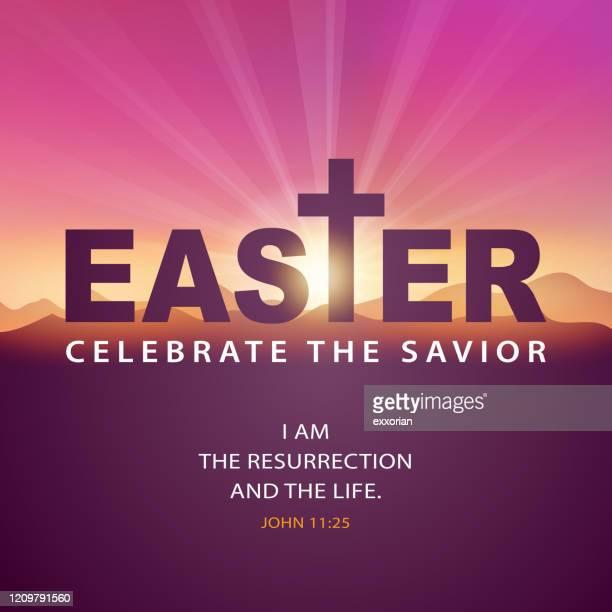 celebrate the resurrection - holy week stock illustrations