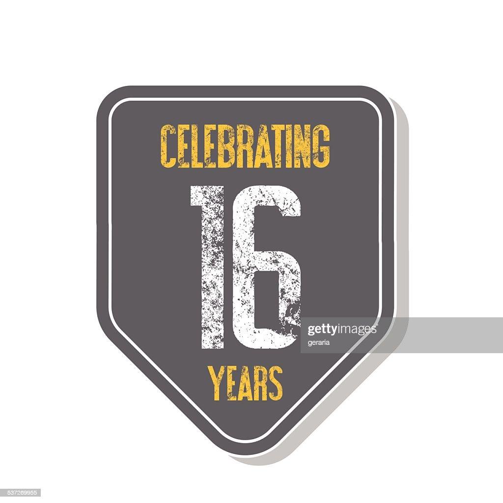 'Celebrating 16 years' banner.