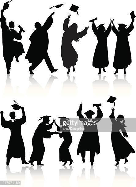 Celebrating graduate silhouettes