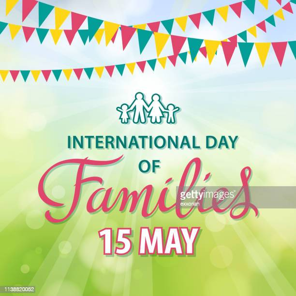 celebrating international day of families - day stock illustrations