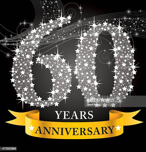 celebrating their 60th year anniversary  - 60 64 years stock illustrations