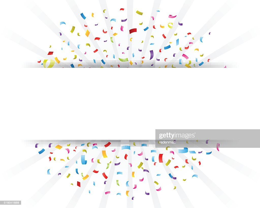 Celebration confetti with paper sign