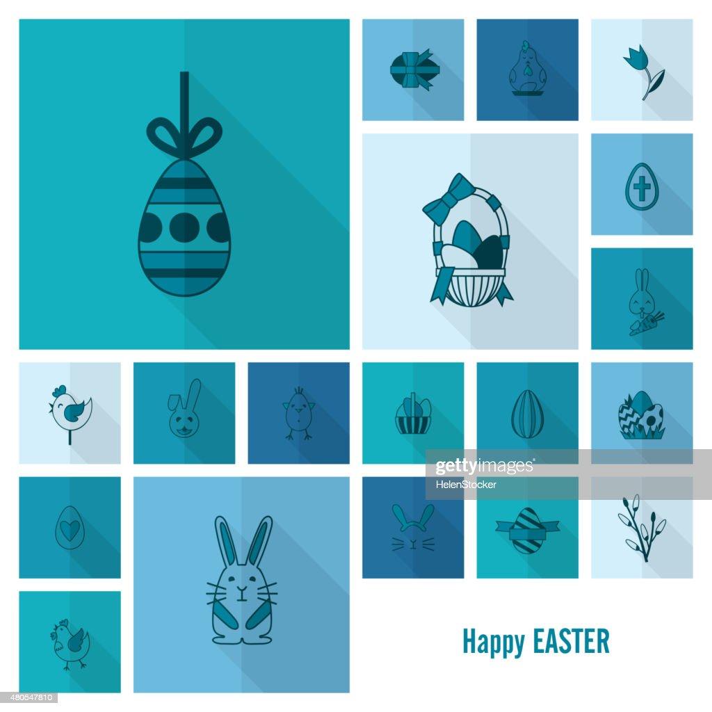 Celebration Easter Icons : Vector Art