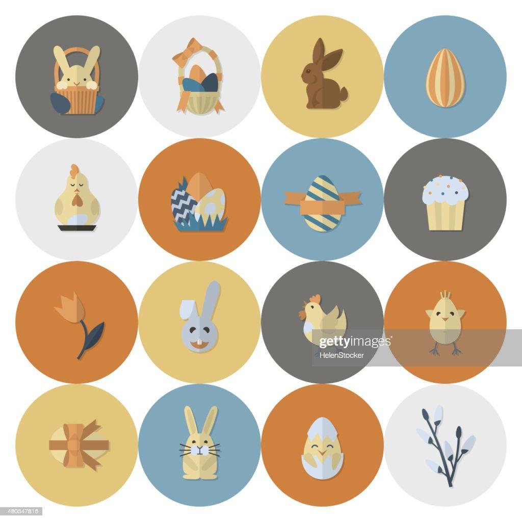Feiern Ostern Symbole : Vektorgrafik