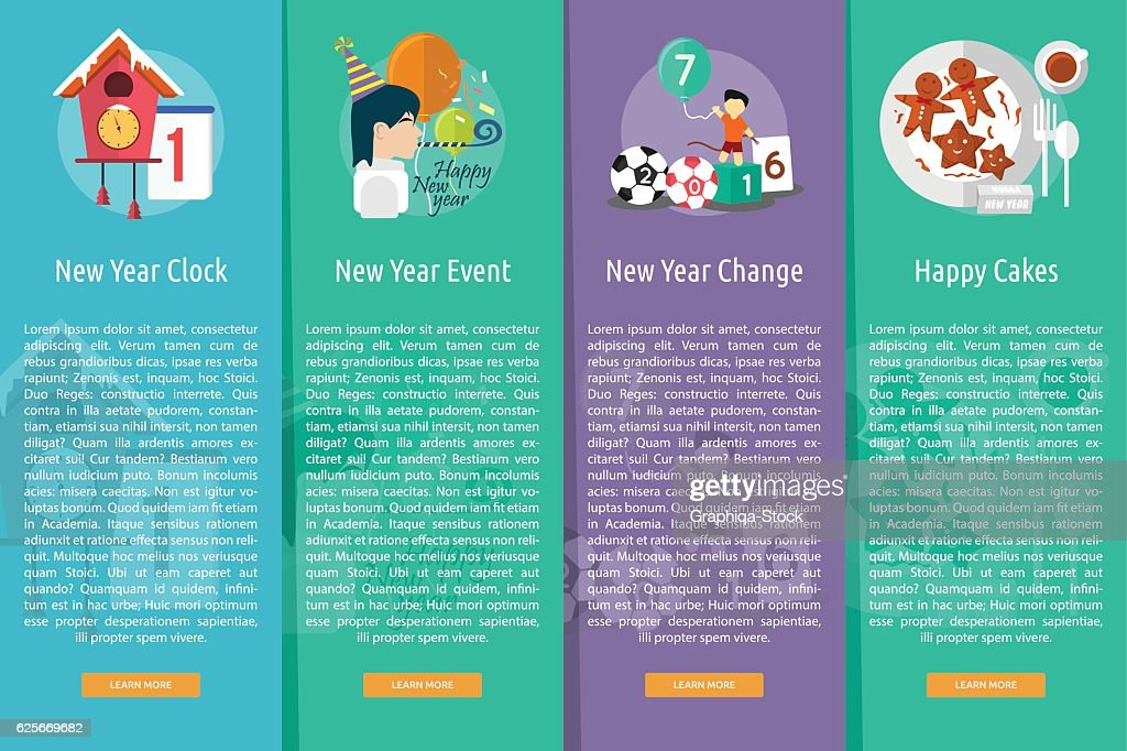 celebration happy new year vertical banner concept vector art