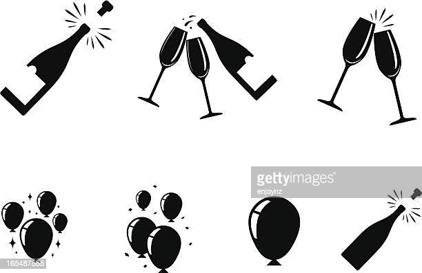 feier symbole - party stock-grafiken, -clipart, -cartoons und -symbole