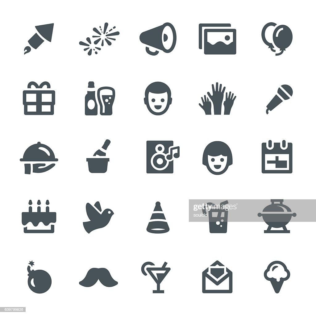 Celebration Icons : Stock Illustration
