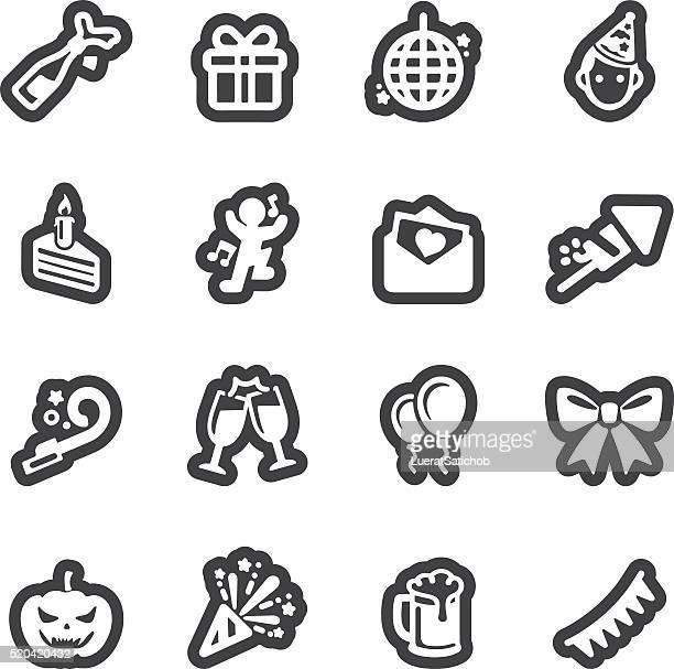 celebration line icons | eps10 - arugula stock illustrations, clip art, cartoons, & icons