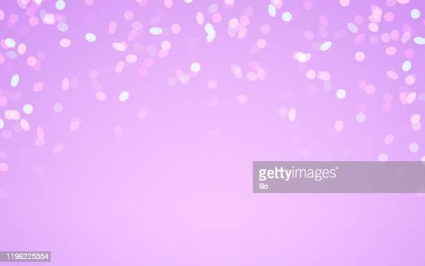 celebration modern abstract confetti background - purple stock illustrations