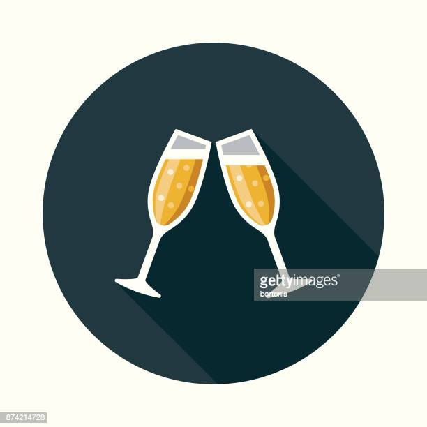 Celebration Social Media Flat Design Icon with Side Shadow