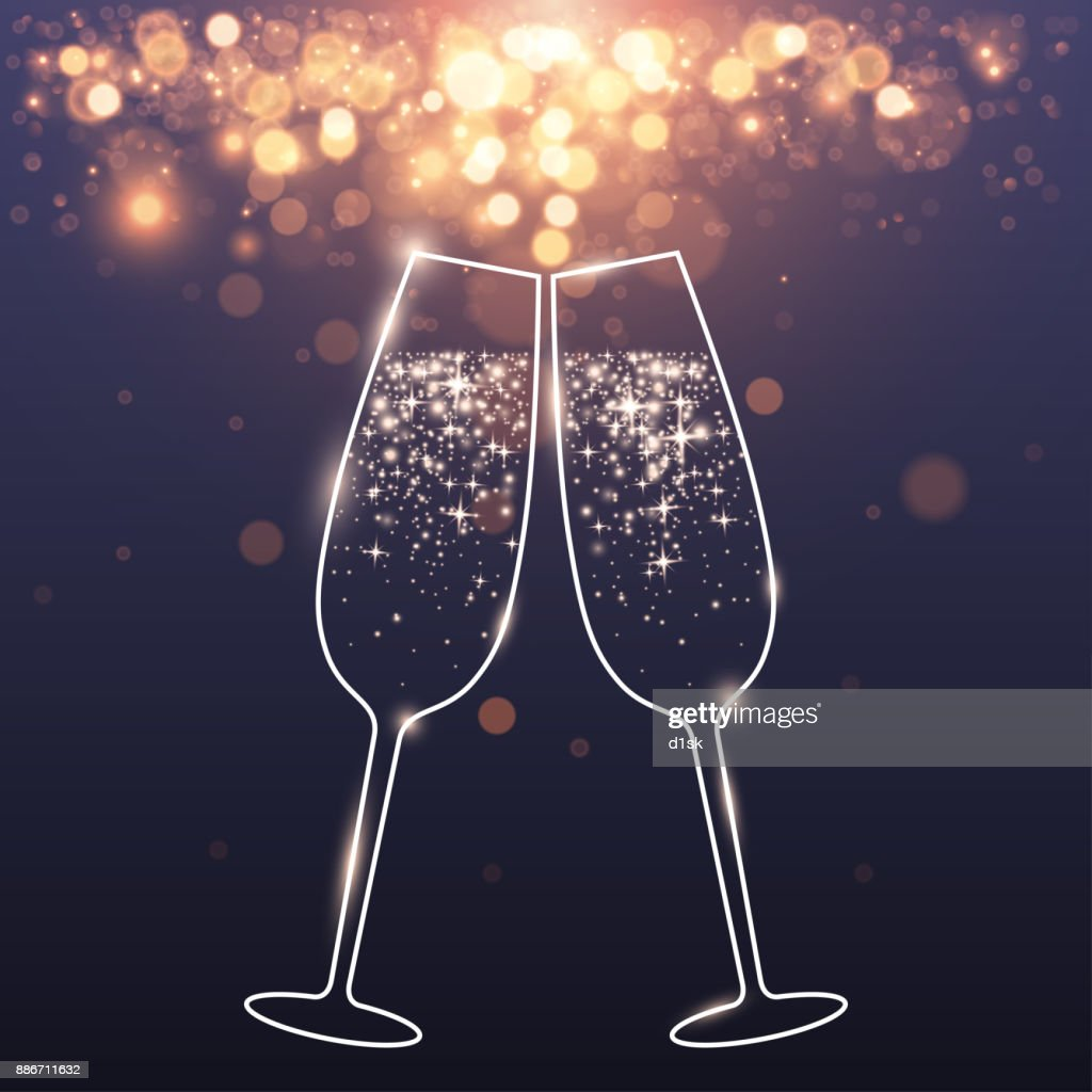 celebratory glasses background