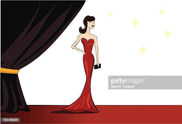 celebrity at the premier - actor stock illustrations, clip art, cartoons, & icons