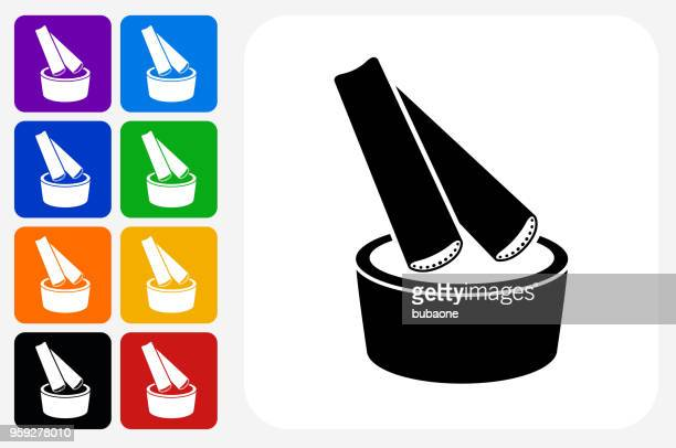 celery dip icon square button set - dipping stock illustrations, clip art, cartoons, & icons