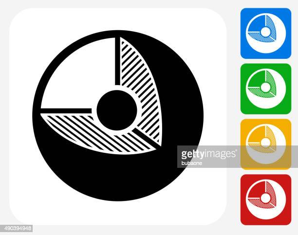 cell icon flat graphic design - nucleus stock illustrations, clip art, cartoons, & icons