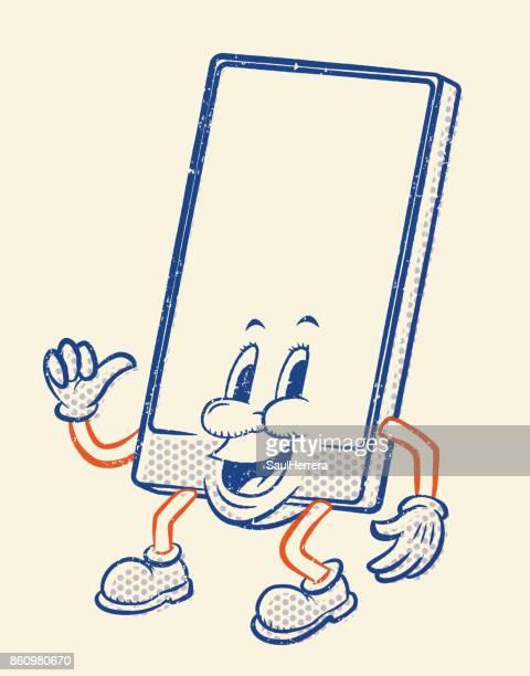 携帯電話の文字 - 人面点のイラスト素材/クリップアート素材/マンガ素材/アイコン素材