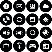 Cell phone technology vector icon set