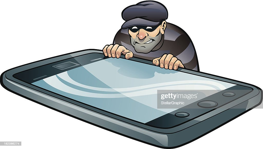 Cell Phone Thief : stock illustration
