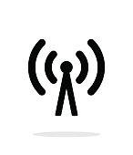 Cell phone tower icon on white background.