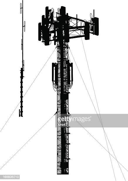 Cell Phone Tower Silhouette