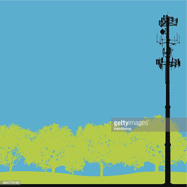Cell Phone Tower - Telecommunications Background