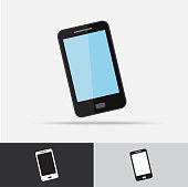 Cell Phone Vector Icon Flat Design