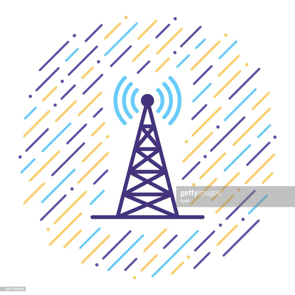 Cell Site Line Icon