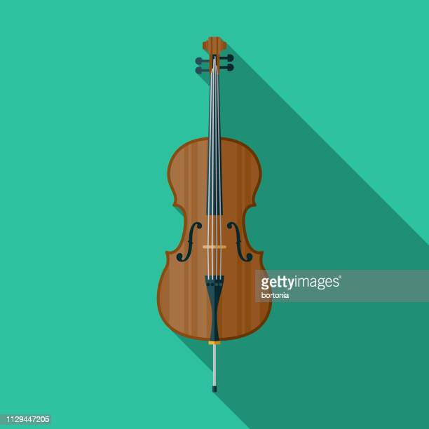cello musical instrument icon - bass instrument stock illustrations, clip art, cartoons, & icons