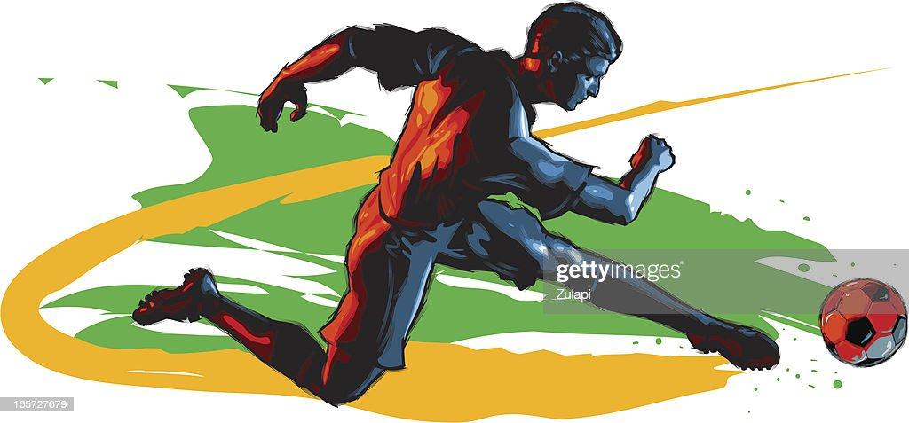 CelScratch Illustration: Running Kicker