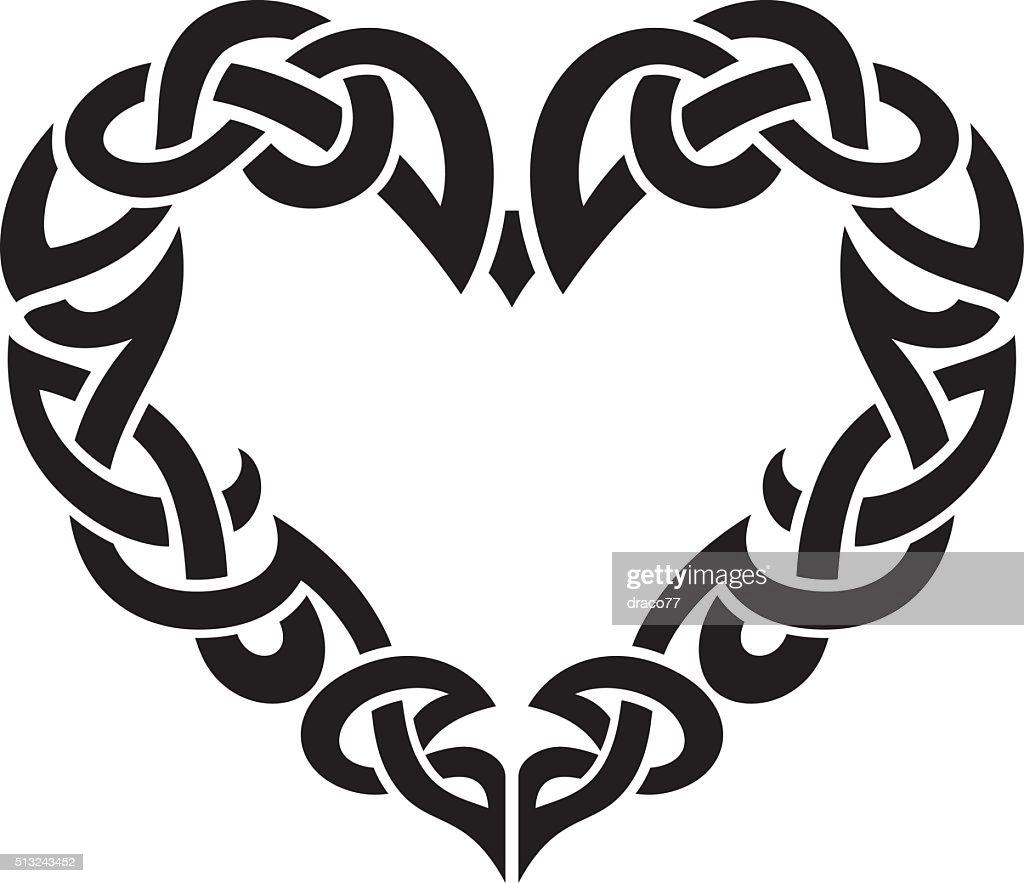 Celtic Abstract Heart Border