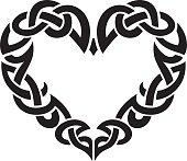 Celtic Abstract Heart Border