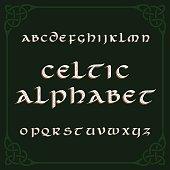 Celtic alphabet font