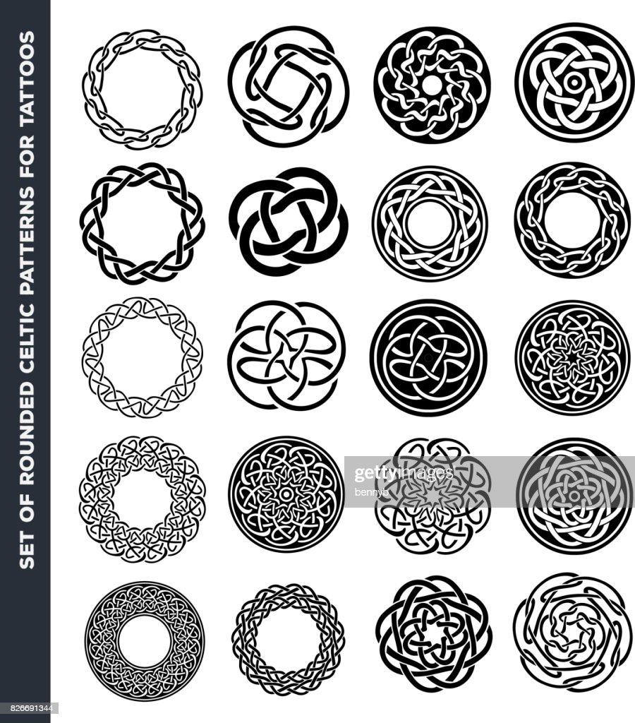 Celtic Circles And Rings For Tattoo Design