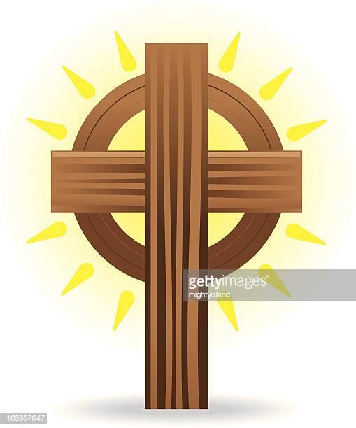 celtic cross icon - celtic cross stock illustrations, clip art, cartoons, & icons