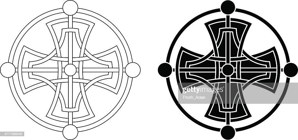 Celtic cross medaillon (Knotted cross variation n° 1)