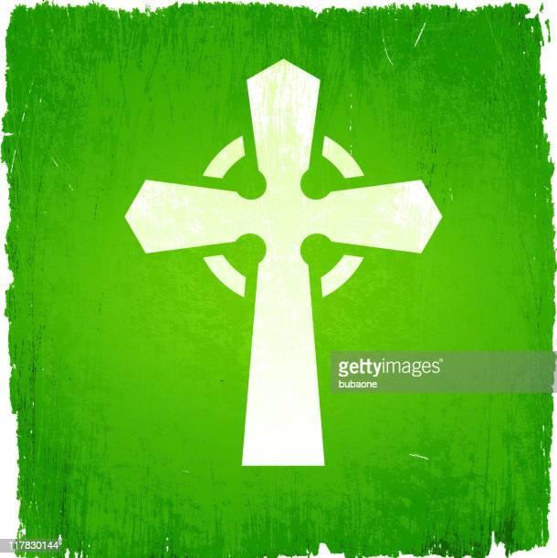 celtic cross on royalty free vector background - celtic cross stock illustrations, clip art, cartoons, & icons