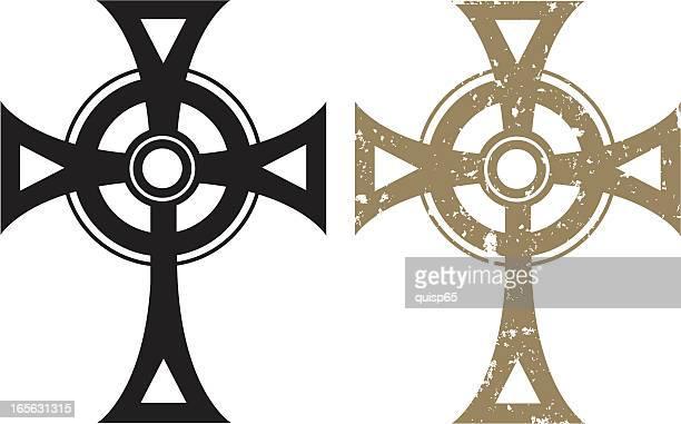 celtic cross - celtic cross stock illustrations, clip art, cartoons, & icons
