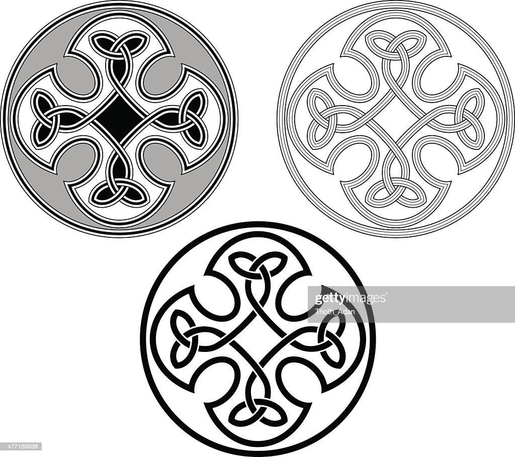 Celtic flower ornamnet (Infinity knot variation n° 6)