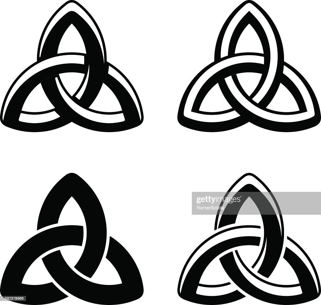 Celtic knot black white symbols