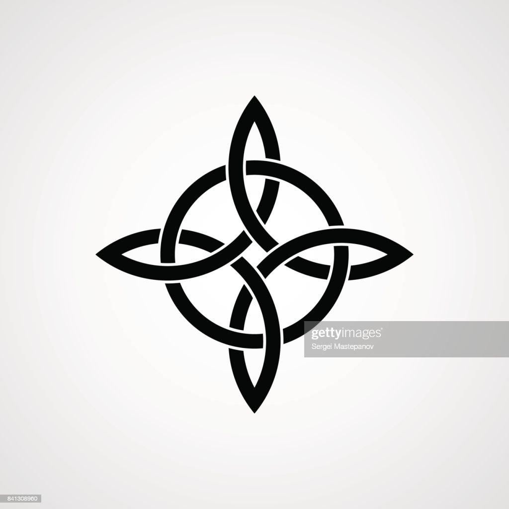 Celtic knot. Cross