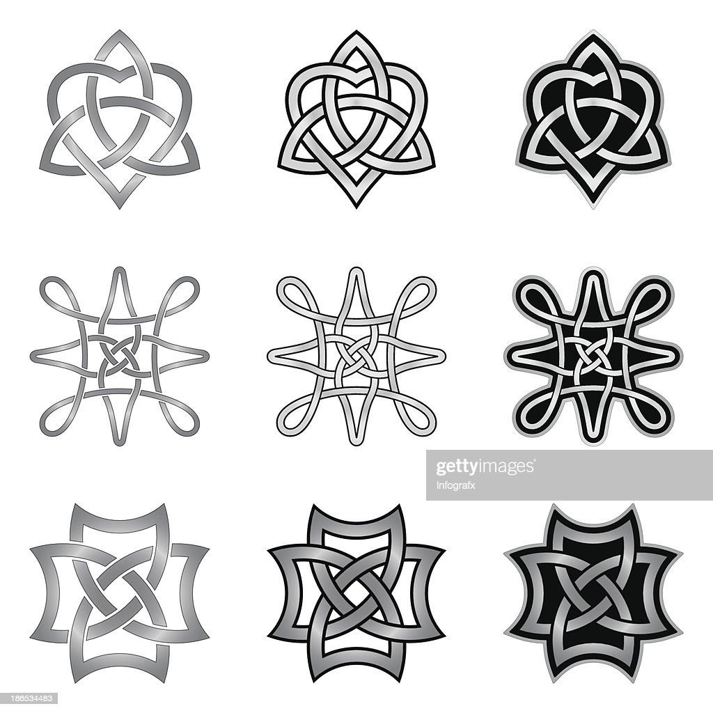 Celtic Knot Patterns and Templates
